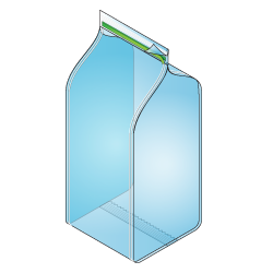 Block Bottom Reclosable Bag