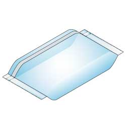 Pillow pack with off set vertical seal