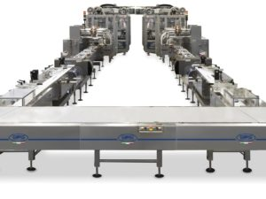 Complete and fully automatic system for high speed packing of wafers