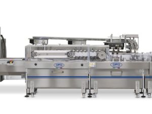 Complete and fully automatic system for sandwich biscuits