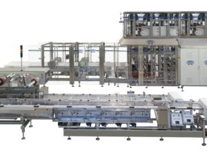 Complete and fully automatic system for high speed wrapping of chocolate products