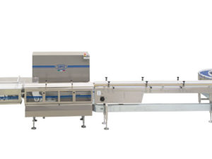 Complete and fully automatic system for biscuits on tray